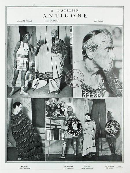 Antígona de Jean Cocteau, con decorados de Picasso y vestuario de Chanel.